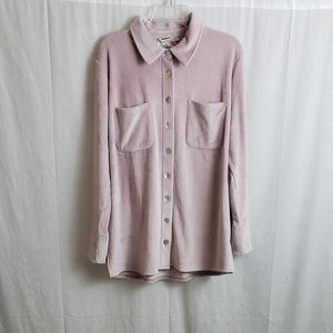 Soft Surroundings Large Soft Pink Velour Tunic
